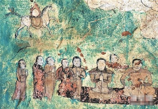 内蒙古对阿尔寨石窟壁画和岩体进行全面保护