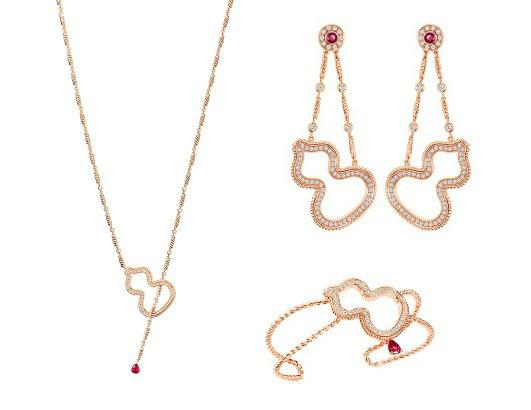麒麟(QEELIN)珠宝特别推出WULU系列15周年红宝石套装