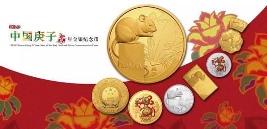 2020年鼠年金银币正式发行