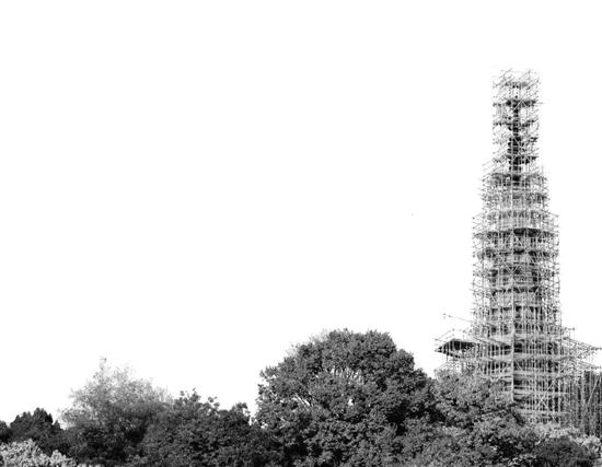 """杭州保俶塔的塔顶倾斜""""元凶""""找到了 竟是一个断了线的风筝"""