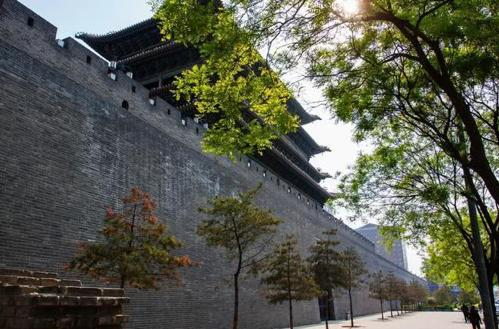 山西太原始建于明代的拱极门城墙对外开放