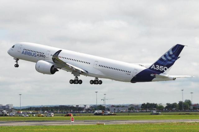 欧洲空中客车公司研制的双发远程宽体客机——空客A350