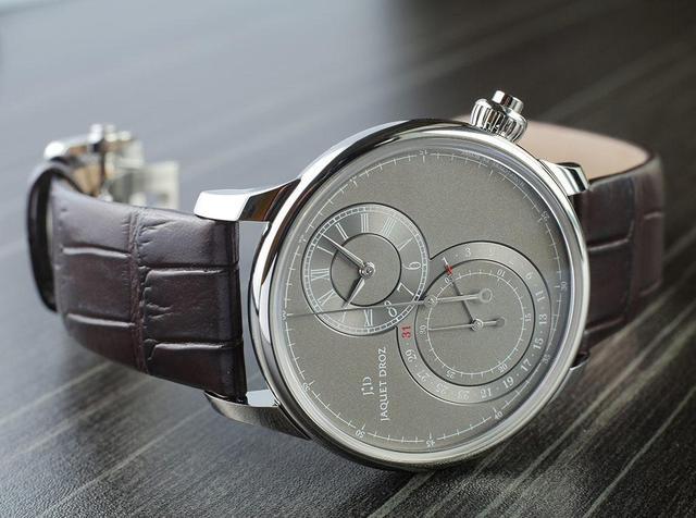 简约纯净美!雅克德罗精钢款腕表