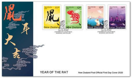 新西兰2020年鼠年生肖邮票发行