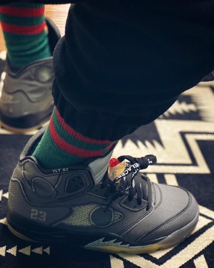 以Air Jordan 5为蓝本 OFF-WHITE x AJ5再曝新图!