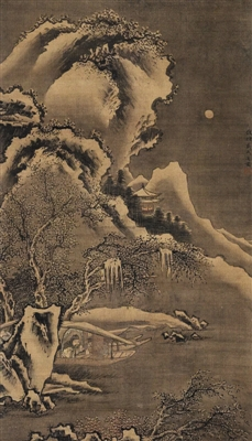 [上海牌照拍卖流程]明代著名画家戴进《雪夜访戴图》鉴赏