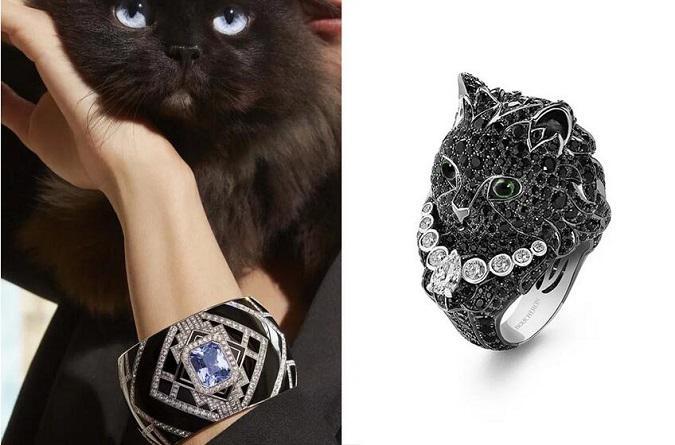 宝诗龙猫咪戒指 为高级珠宝元素注入鲜活生命力