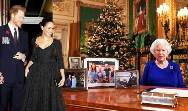 英国女王圣诞致辞 桌上少了哈里梅根的照片