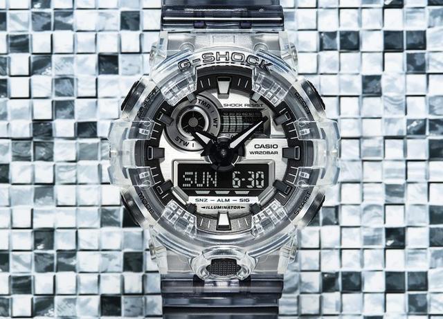 G-SHOCK推出采用半透明材质制成的Clear Skeleton全新系列