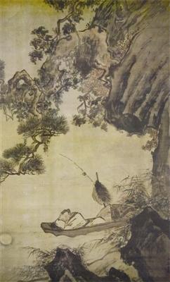 [舰娘收藏]吴伟传世之作《渔舟晚泊图》鉴赏