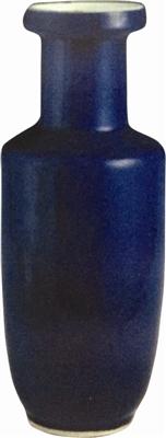 [招财树图片]清光绪时期洒蓝釉棒槌瓶鉴赏