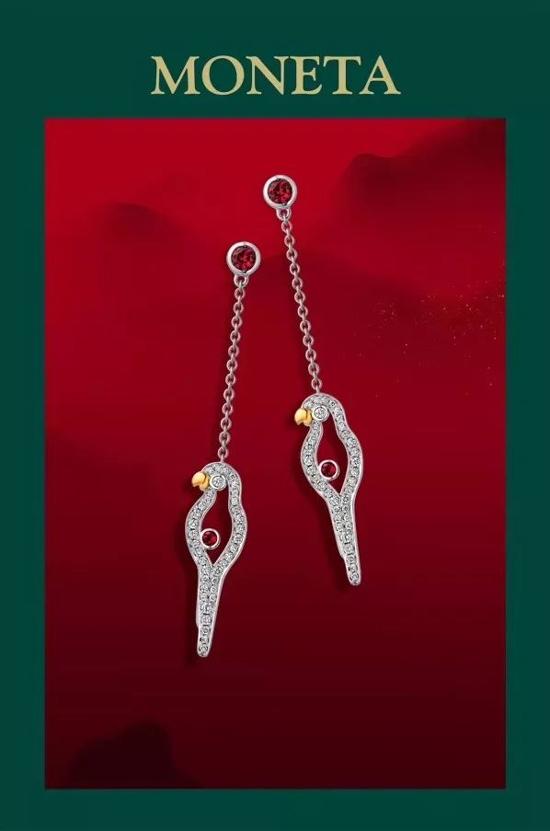 MONETA将品牌图腾鹦鹉幻化成时髦造型 让宝石与美钻交织出动人的光影