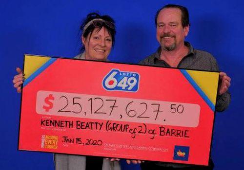 夫妻中了2500万加元大奖 表示这感觉很好