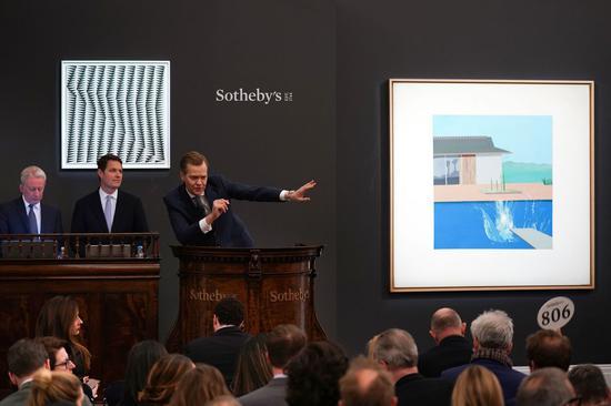 「水草玛瑙价格」大卫霍克尼重要巨作《水花》拍出2.17亿元天价
