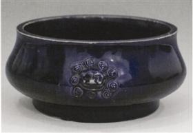 [金矿石图片]清康熙茄皮紫釉香炉鉴赏