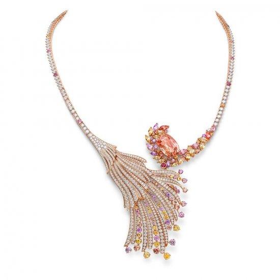 瑞士珠宝商 Gübelin 推出新一季珠宝作品——「Blushing Wing」项链