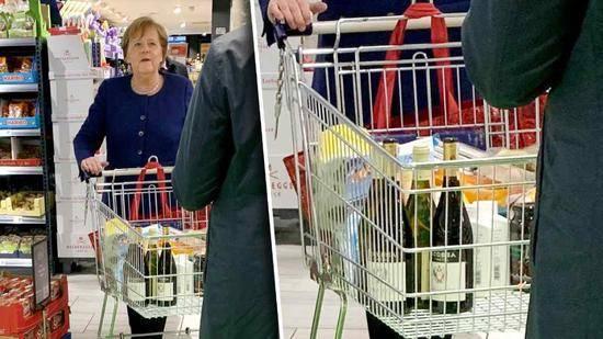 默克尔超市采购 以此表达政府对抗新冠疫情的信心