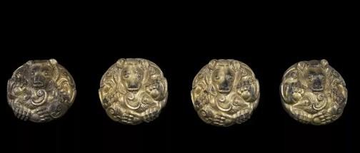 河南省博物院藏鎏金团兽形节约鉴赏