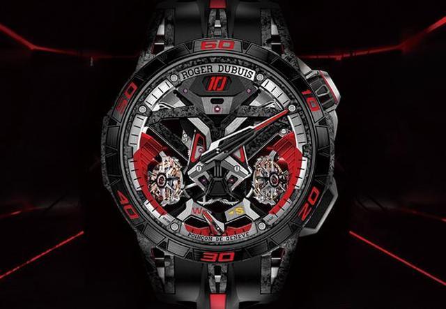 多元素设计的全新表款 罗杰杜彼从双陀飞轮到四擒纵手表