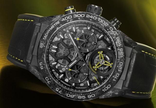 泰格豪雅 全新碳纤维复合材质游丝腕表