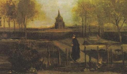 荷兰一博物馆正在展出的梵高画作《春天花园》被盗