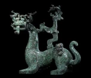 「上水石价格」春秋晚期楚国器物青铜神兽鉴赏