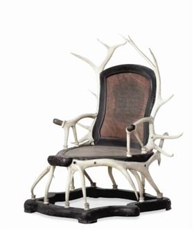 [古玩玉器]北京故宫博物院珍藏的鹿角椅鉴赏