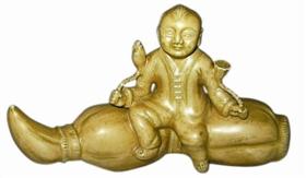 「菩提子价格」清代道光年间的瓷质莲藕镇纸