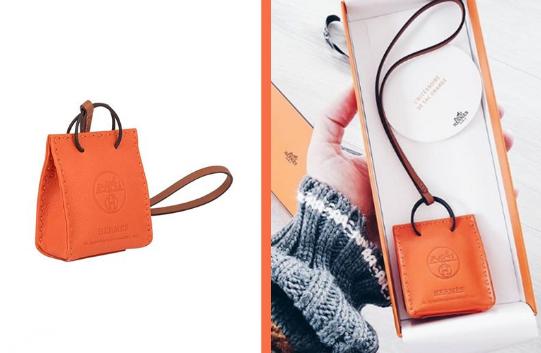 Hermès迷抢购单品:Sac Orange迷你橙色bag charm!