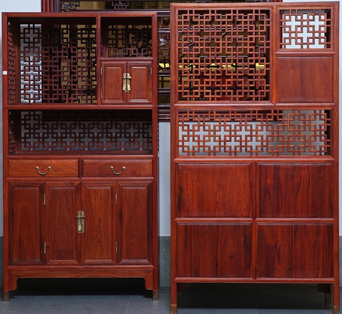 """""""贡艺名居新古典红木书柜""""红木家具多少钱一套?"""