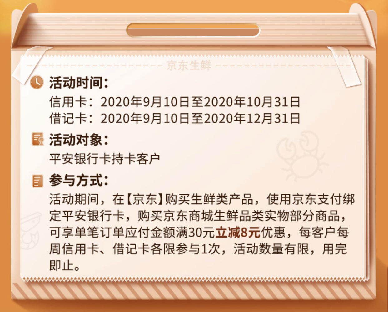 2020年9月14日平安银行信用卡优惠活动推荐