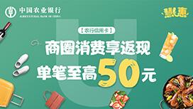 2020年11月18日农业银行慧U惠商圈返现活动
