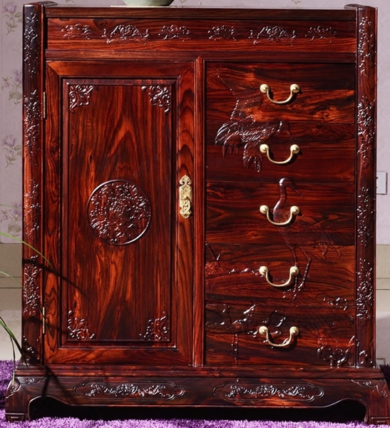 """""""逸馨阔叶黄檀置物柜""""红木家具的价格"""