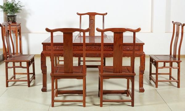 """""""贡艺名居红木茶桌椅""""红木家具多少钱一套"""