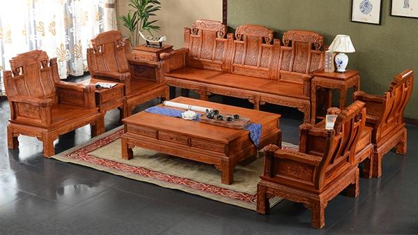 """""""古味居缅甸花梨木沙发""""红木家具多少钱一套"""