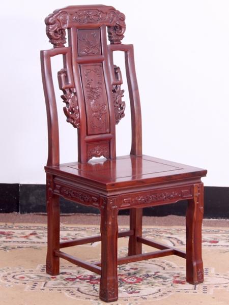 """""""盛昌阁非洲酸枝木象头餐椅""""红木家具的价格"""