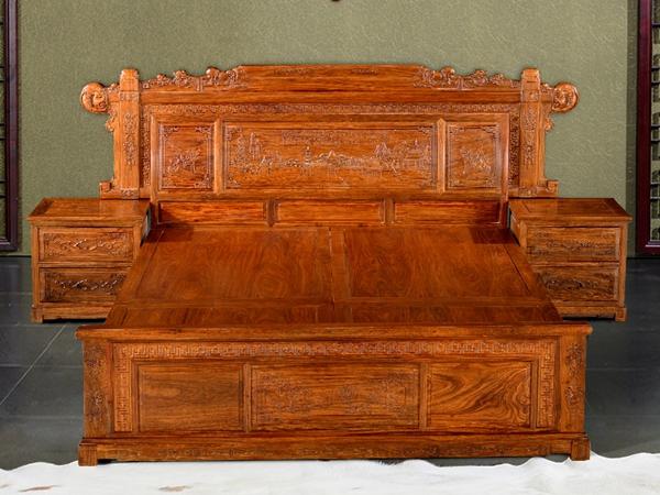 """""""奥哲古典中式双人床""""红木家具价格多少钱?"""