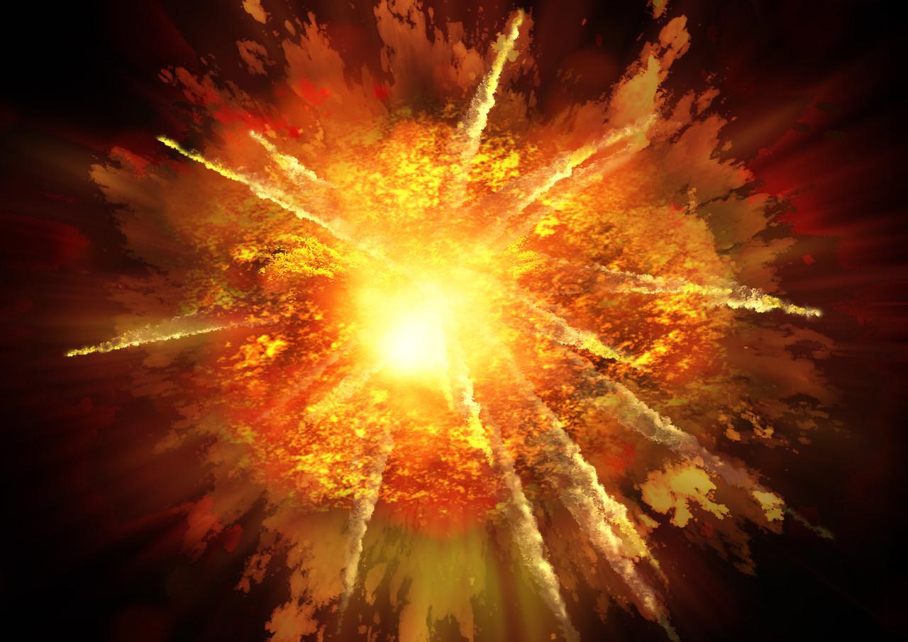 迪拜港口货轮发生爆炸 巨大火球照亮夜空