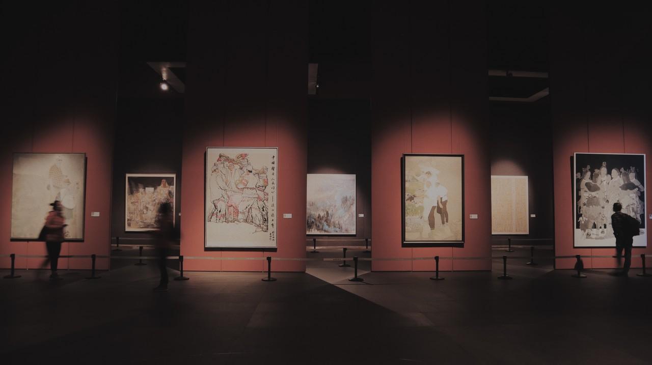 辛丑浙江赛丽美术馆扇面小品展开幕