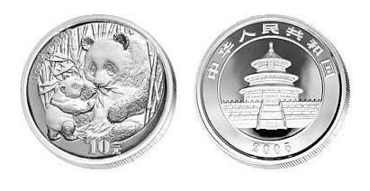 05熊猫银币