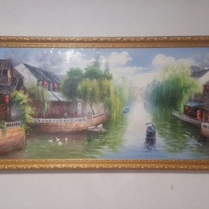 张雷油画(江南水乡)