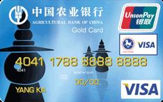 农行金穗东方神韵西湖三潭印月国际旅游金卡(银联+VISA)