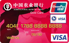 农行金穗东方神韵陕北民风国际旅游金卡(银联+VISA)