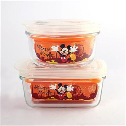Disney米奇缤纷乐园保鲜盒两件套