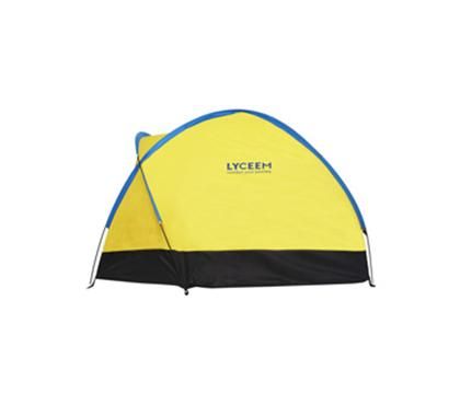 蓝橙单层三人流动宿营帐篷