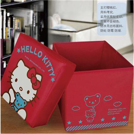 Hello Kitty多功能折叠收纳凳(赠Hello Kit