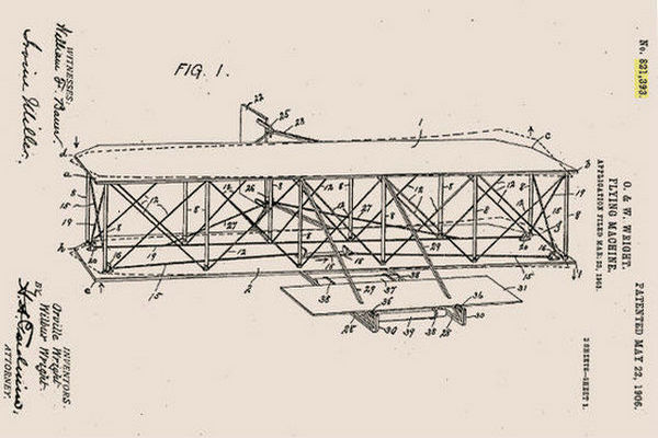 莱特兄弟的专利