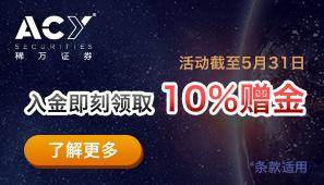 10%赠金活动
