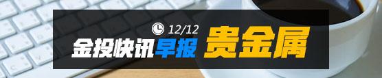 金投网12月12日国际贵金属黄金市场早报