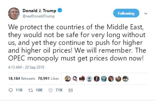 特朗普威胁OPEC必须降价,伊朗这样强硬回应!